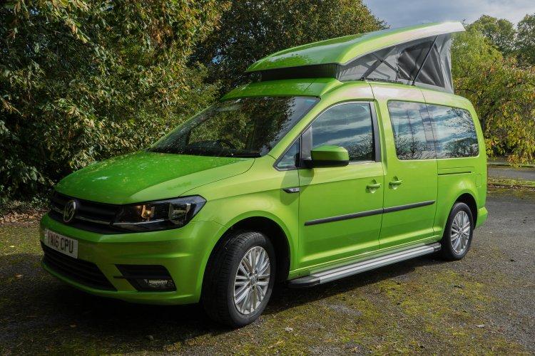 vw caddy maxi camper van key camper conversions. Black Bedroom Furniture Sets. Home Design Ideas